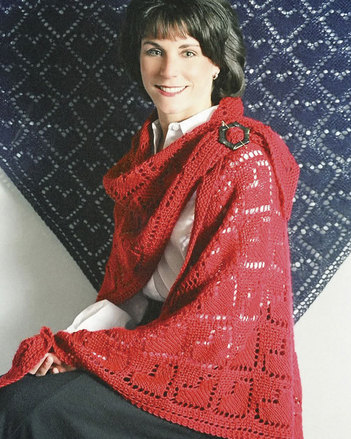 AC27e The Queen of Hearts Shawl - PDF picture