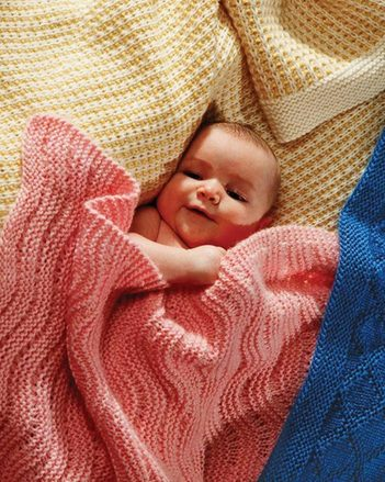 CH23e  Easy Knit Baby Blankets - Collection I - PDF picture