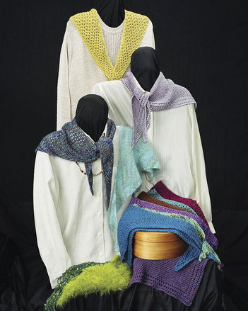AC32 Versatile Scarves - 3 styles in 4 yarn weights picture