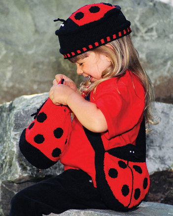 CH25 Lovable Ladybugs - hat & two different bags picture