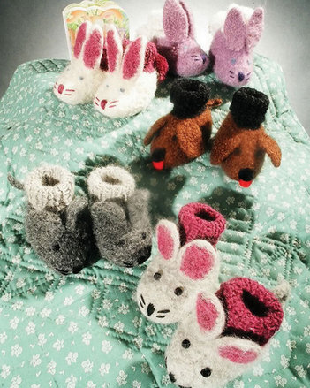 CH22e Animal Friends Felt Booties - PDF picture