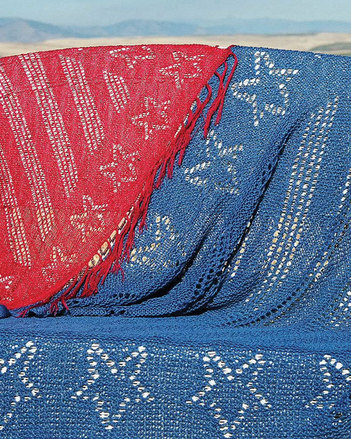 S2007e Stars and Stripes Shawl or Throw _ PDF picture