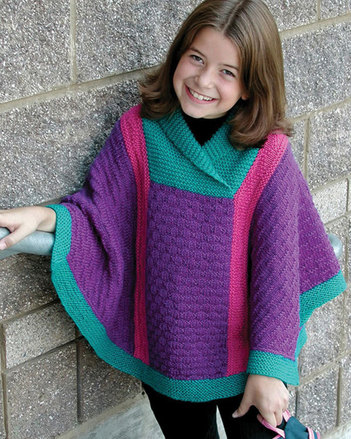 CH43   Valerie - Poncho in worsted weight picture