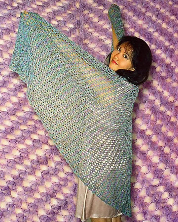 110LC Top-Down, Mock Faroese Shawl picture
