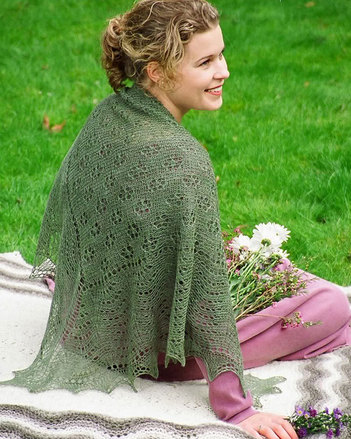 S2004 Field of Flowers - Square shawl or throw picture