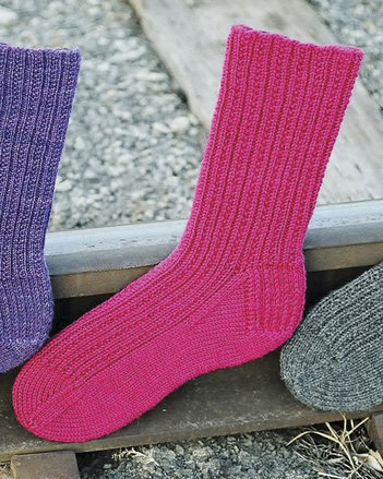 AC51 Railroad Rib Socks in 3 yarn weights picture