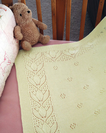 CH51e Tulips & Rosebuds Baby Blanket - PDF picture