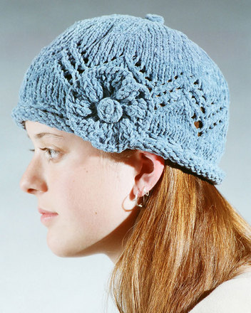 AC4 Lace Cap with knit flower picture