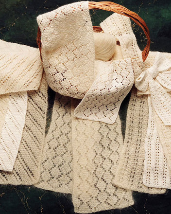 AC23e  Easy Lacy Accents Scarves - PDF picture