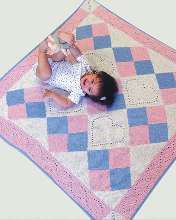 CH50 Heart Quilt Baby Blanket picture