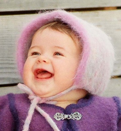 CH12e Felt Baby Bonnet - PDF picture