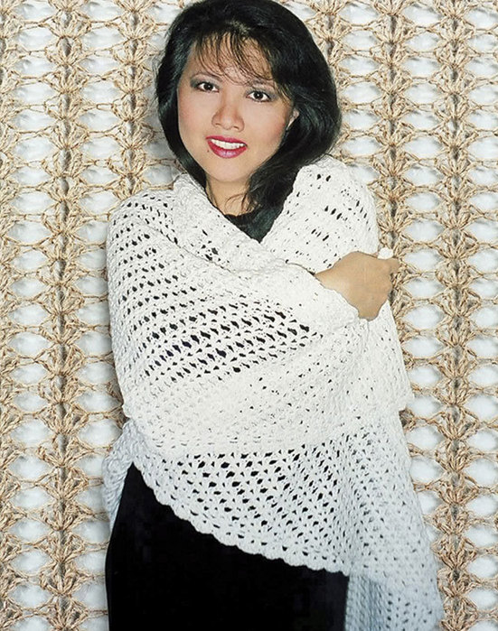 105LC Easy Crocheted Triangle Lace Shawl | Fiber Trends