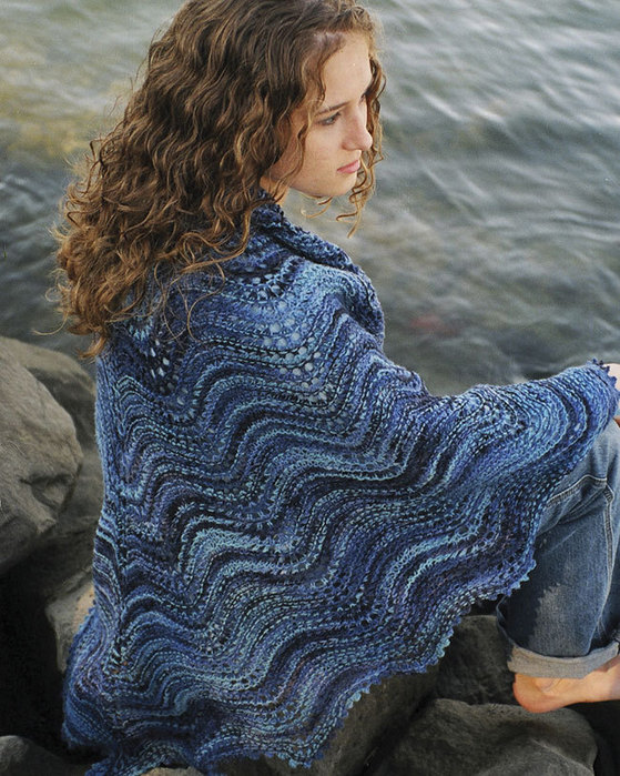 S2011 The Shoalwater Lace Shawl | Fiber Trends