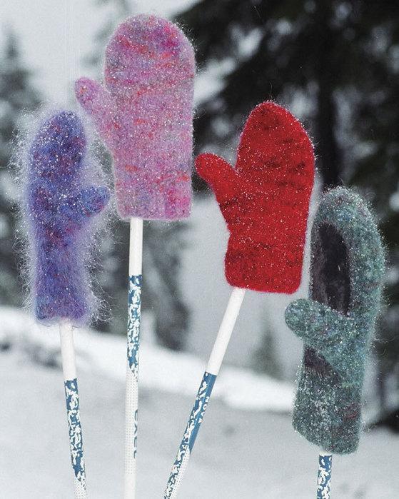Ac17 Snow Country Felt Mittens Fiber Trends