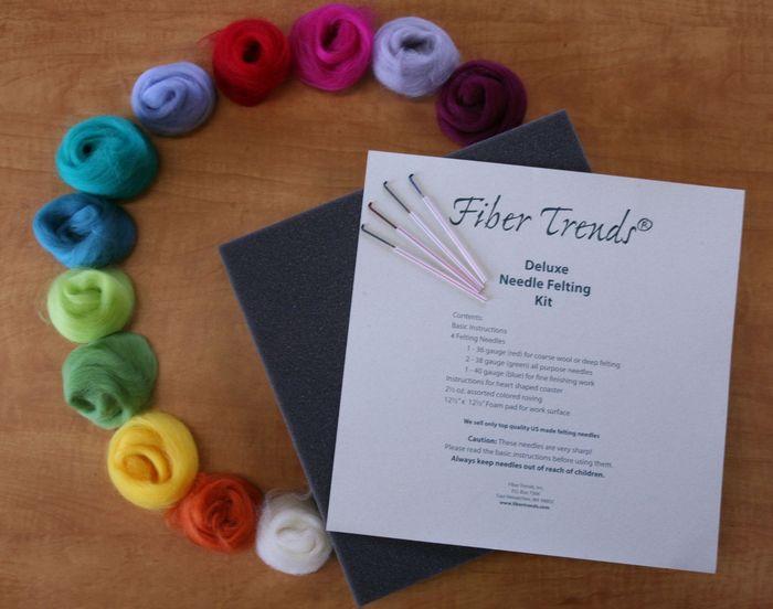 Deluxe Needle Felting Kit Fiber Trends