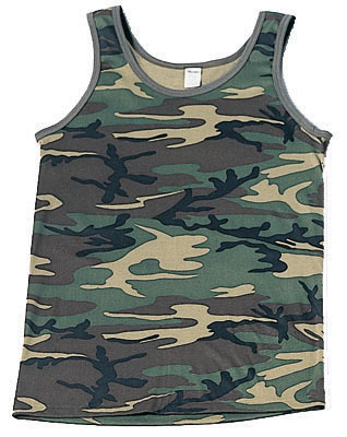 ROTHCO TANK TOP / WOODLAND CAMO picture
