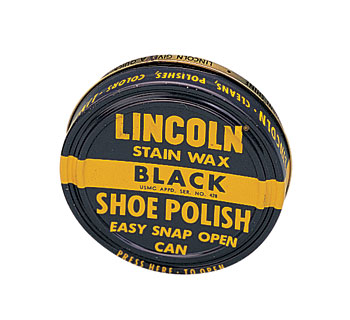 Lincoln U.S.M.C. Black Stain Wax Shoe Polish picture