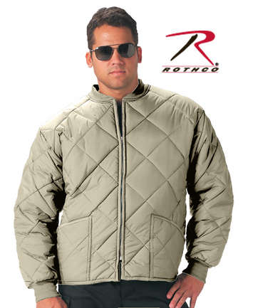 Rothco Diamond Nylon Quilted Flight Jacket | Rothco