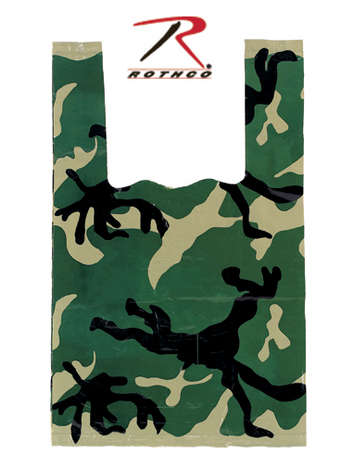 Rothco Woodland Camo Shopping Bag picture