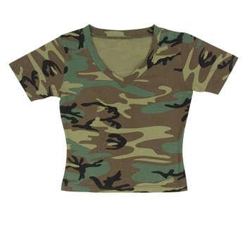 Rothco Womens Short Sleeve Camo V-Neck T-Shirt picture