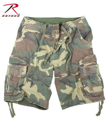 VINTAGE WOODLAND INFANTRY UTILITY SHORTS picture
