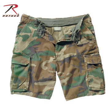 ROTHCO VINTAGE CARGO SHORT - WOODLAND CAMO picture