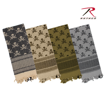 Rothco Skulls Shemagh Tactical Desert Scarf picture