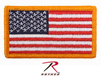 Rothco American Flag Patch - Hook Back picture