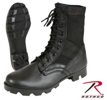 "ROTHCO GI TYPE JUNGLE BOOT / 8"" -  BLACK picture"