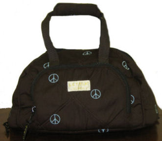 Lettia Peace Sign Helmet Bag picture