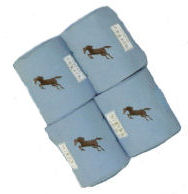 Lettia Embroidered Polo Wraps: Powder Blue w/ Jumper picture