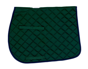 Union Hill All Purpose Saddle Pad Hunter Green w/Navy Trim picture