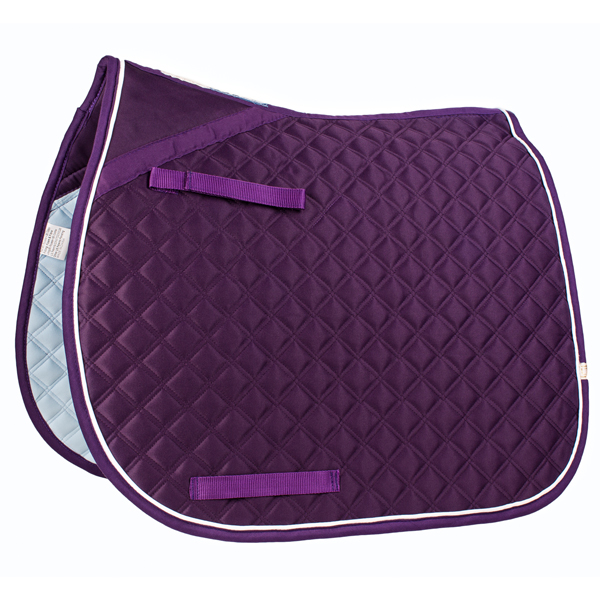 Lettia CoolMax ProSeries Dressage Pad Plum with White Piping picture