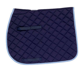Cotton Quilted (CQ) Saddle Pad - Navy w/baby blue & gray - 7207 picture