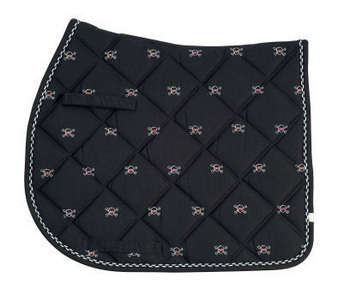 Lettia Pony Black Body with White Embroidered Skulls picture