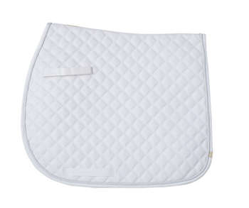 Cotton Quilted (CQ) Saddle Pad - White - 7184 picture