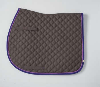 LÉTTIA Collection Cotton Quilted Dressage Saddle Pads - Pewter & Purple - 7160 picture