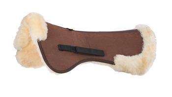 Sheepskin Fibre Half Pad Pad Brown/Natural (10044) picture
