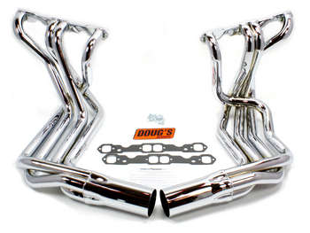Corvette Sidemount Header SB 1963-82, Chrome picture