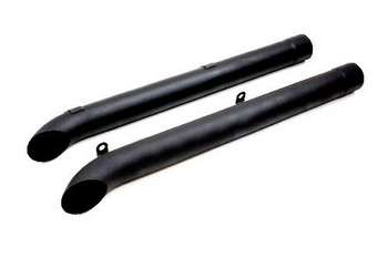 Sidetubes for Corvette Sidemount Headers, Black picture