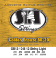 Golden Bronze 80/20 Acoustic 12-String Light