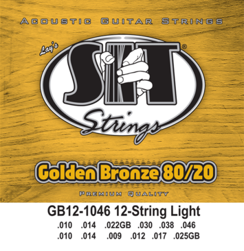 Golden Bronze 80/20 Acoustic 12-String Light picture