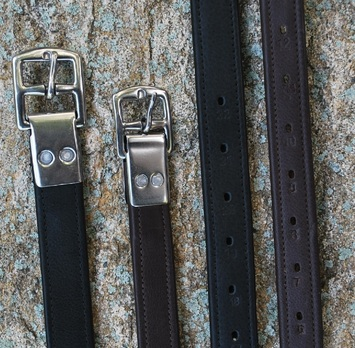 BLACK OAK RIVETED HALF HOLE STIRRUP LEATHERS (BROWN) picture