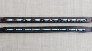 BLUE BEAD BROWBAND picture
