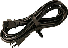 2-Prong Power Cable: D/Round End (2P-AC2) picture