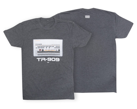 TR-909 Crew T-Shirt Charcoal LG picture