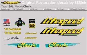 1996 CLASSIC DECALS picture