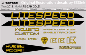 2013 PISGAH GOLD DECAL SET picture