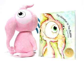 <b>Squeek Plush and The Monster in the Bubble Book StoryBook picture
