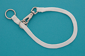 20&quot; White Braided Nylon Snap Choke Collar picture